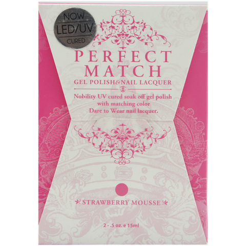 Lechat Perfect Match PMS 052 STRAWBERRY MOUSSE Lacquer and Gel Kit