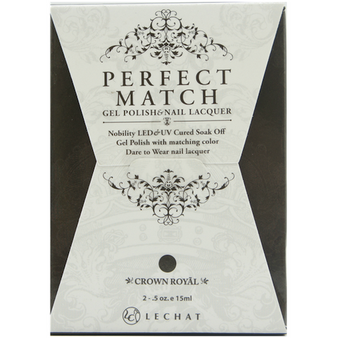 Lechat Perfect Match PMS 075 CROWN ROYAL  Lacquer and Gel Kit
