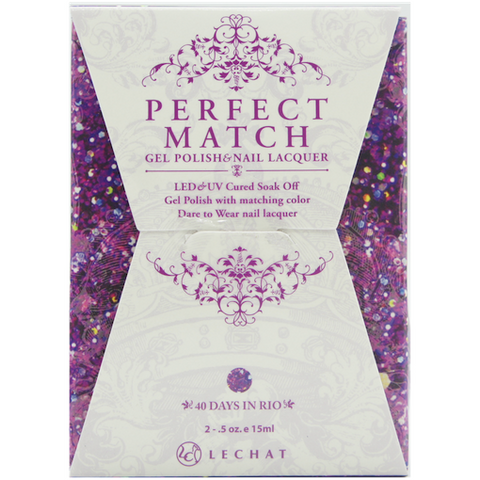 Lechat Perfect Match PMS 085 40 DAYS IN RIO Lacquer and Gel Kit