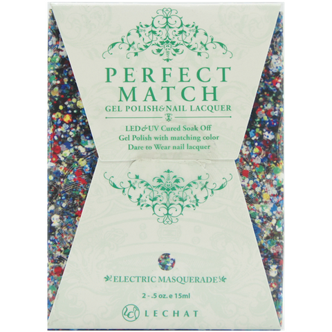 Lechat Perfect Match PMS 086 ELECTRIC MASQUERADE Lacquer and Gel Kit