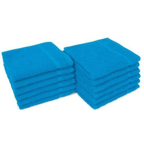 Allure Towels - BRIGHT AQUA 12″ x 12″