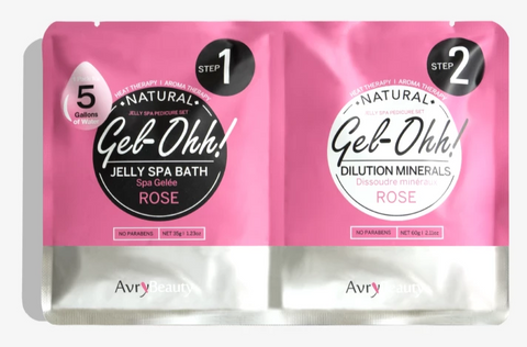 Avry Beauty Jelly Spa Bath - Rose