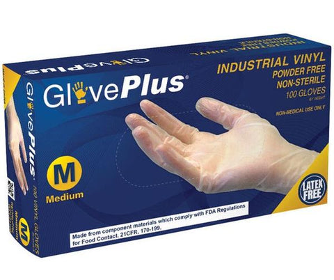 GlovePlus - Industrial Vinyl Gloves Small