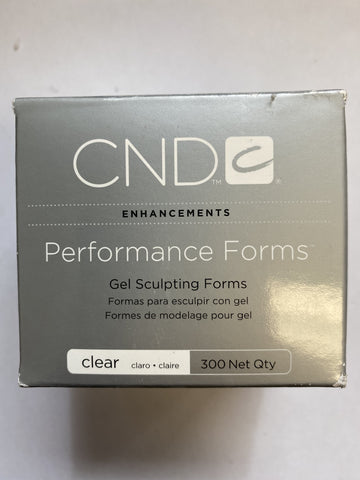 CND - Clear Nail Forms 300pc