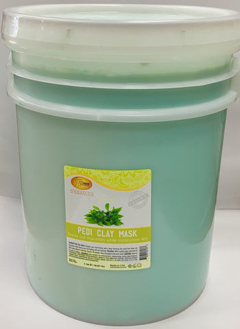 SpaRedi Pedi Clay Mask 5Gal - Green Tea