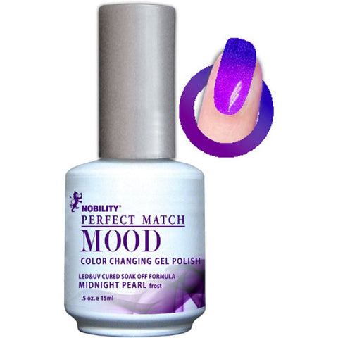 Lechat Mood Gel Polish - DWML07 Midnight Pearl
