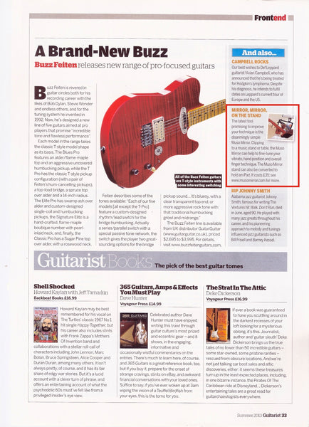 Muso Mirror featured in Guitarist Magazine, Issue 371