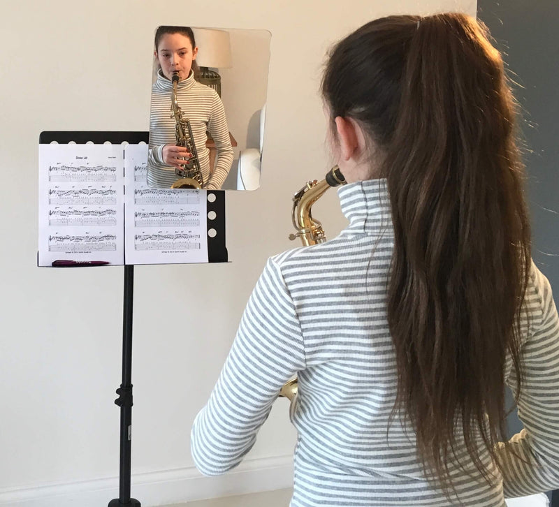 Attach mirror to the top of your music stand by Muso Mirror™