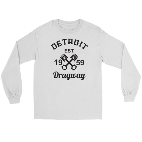 Detroit Dragway® Crossed Pistons Long Sleeve T-Shirt