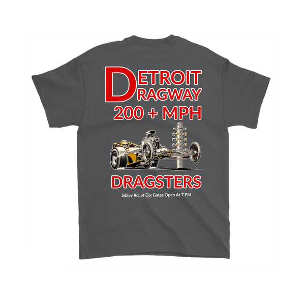 Detroit Dragway® 200 MPH Dragsters  Short Sleeve T-Shirt