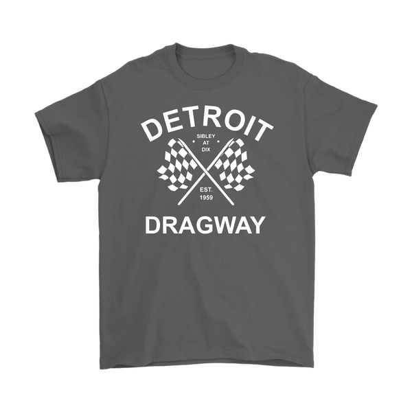 Detroit Dragway® Crossed Flags With Print Short Sleeve