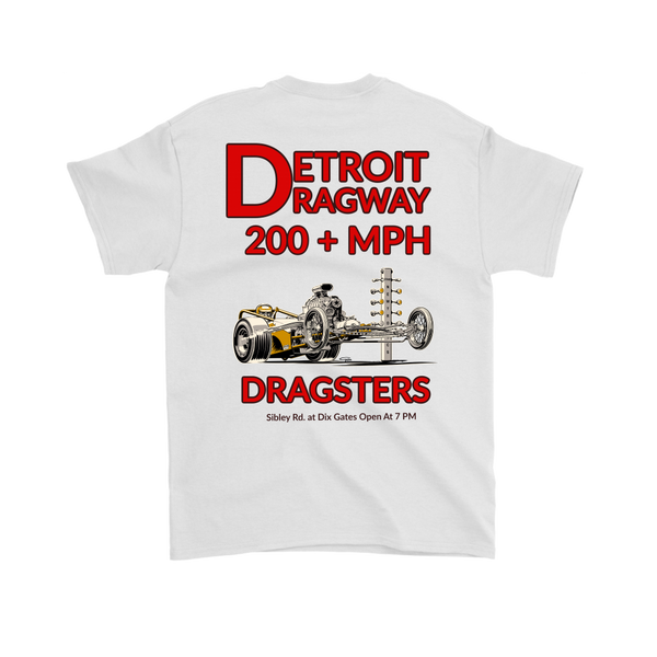 Detroit Dragway® 200 MPH Dragsters Ver2 Short Sleeve T-Shirts