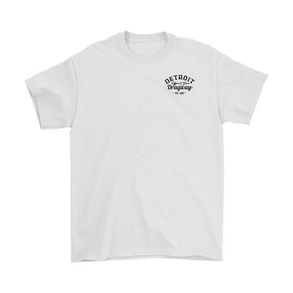 Detroit Dragway® Run What You Brung Ford T-Shirt Image on Back