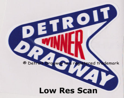 "Detroit Dragway ""Class Winner"" Sticker/Decal Version 2"