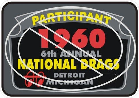 Participant 1960 6th Annual National Drags Sticker/Decal