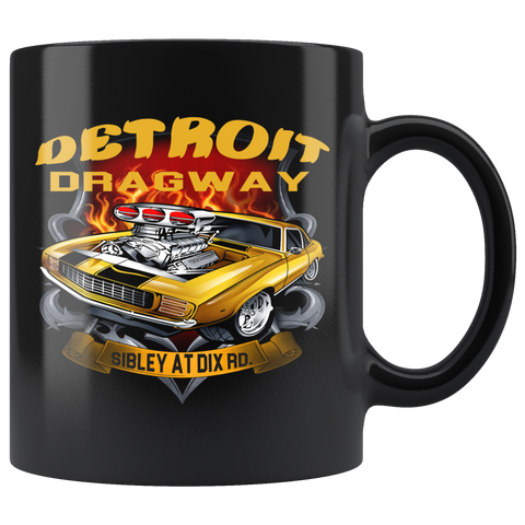 Detroit Dragway® Car Blower Black Mug