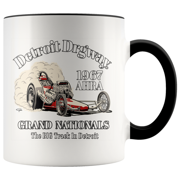 Detroit Dragway® 1967 Grand Nationals Accent Mug