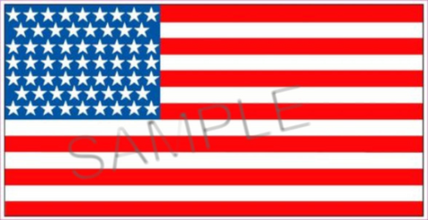 American Flag Sticker/Deca
