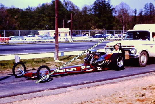 "This is an 8 x 10"" Glossy photo of Color Photo Of Connie Kalitta In His Dragster"