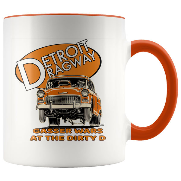 Detroit Dragway® Gassers At The D Accent Mug