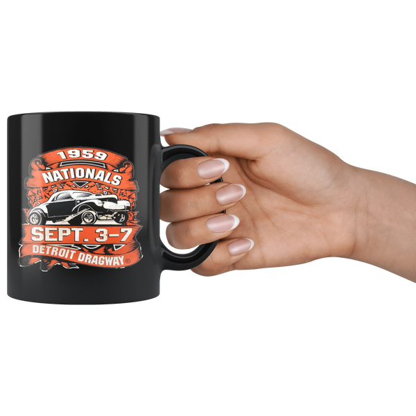 Detroit Dragway 1959 Nationals Mug