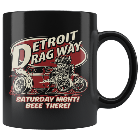 Detroit Dragway® Beee There Black Mug