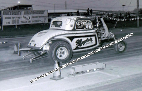 "4 x 6"" Glossy Photo Of The Mayfair Auto Parts Hot Rod Racing At Detroit Dragway"