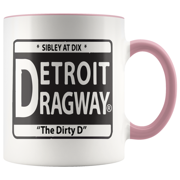 Detroit Dragway® Dirty D Accent Mug