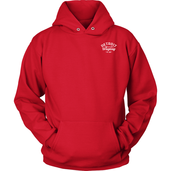 Detroit Dragway® Staging Tree Hoodie  Image On The Back