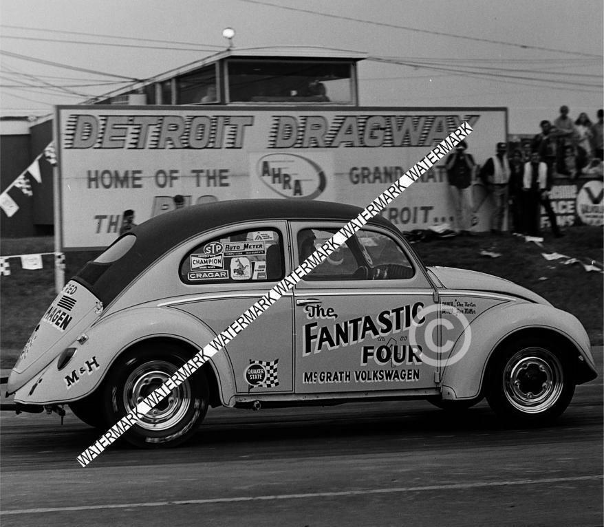 "8 x 10"" Photo Of The VW Fantastic Four Racing at Detroit Dragway®"