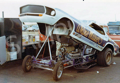 "This is a 4 x 6"" Color Photo of the Funny Car ""Whine Maker"" Aug. 1971"