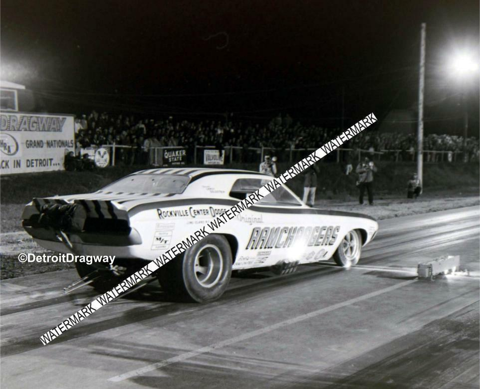 "8 x 10"" RAMCHARGERS Racing at Detroit Dragway® Made from Negative"