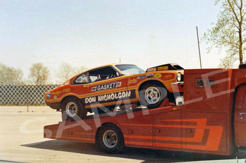 "4 x 6"" Color Photo of 4 x 6"" Color Photo of Dyno Don Nicholson's Car On It's Hauler."