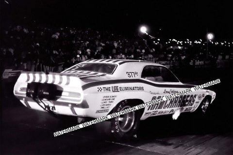 "4 x 6"" Glossy Beautiful Photo Of The RAMCHARGERS Racing at Night Made from My original Negative"