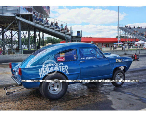 "4 x 6"" Color Photo of the Kentucky Headhunter Gasser  Getting Ready To Race"