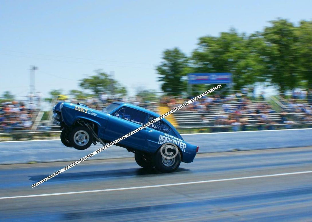 "8 x 10"" Color Photo of the Kentucky Headhunter Gasser doing a Large Wheelie"