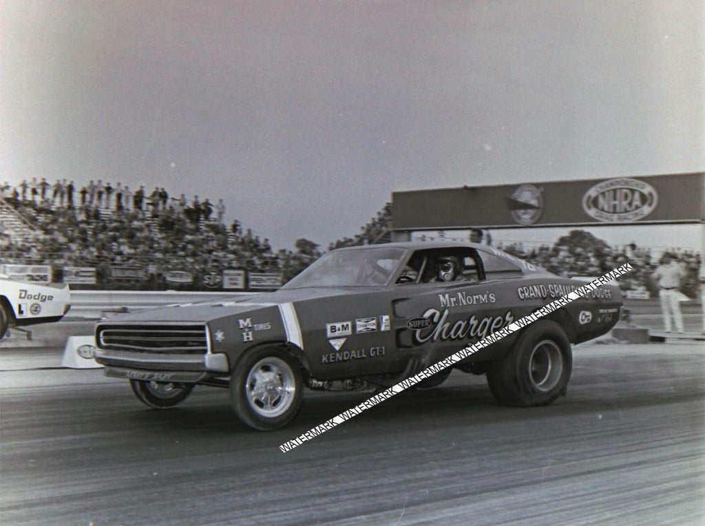 "8 x 10"" Of Mr. Norm's Funny Car At The 1970 Indy. Nationals"