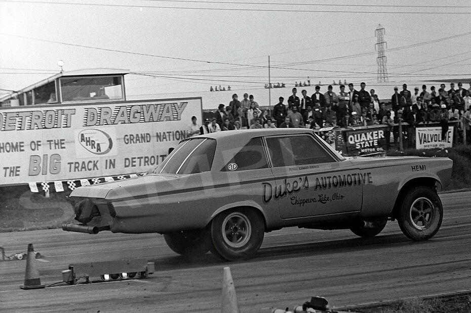"4 x 6"" Glossy photo of Duke's Automotive Plymouth Racing At Detroit Dragway"