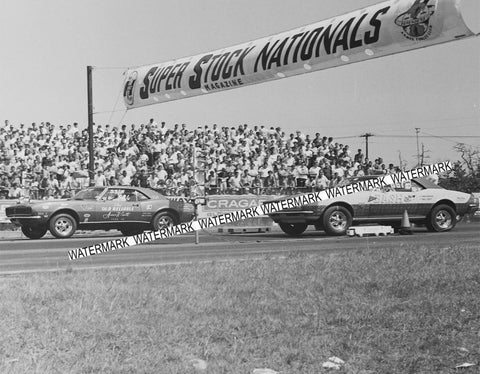 "8 x 10"" Photo of Old Reliable vs Bash At The Super Stock National from Negative"