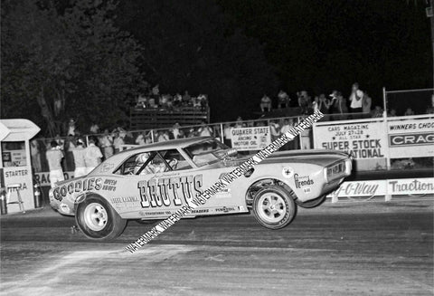 "8 x 10"" Glossy Photo Of The Funny Car BRUTUS Racing"