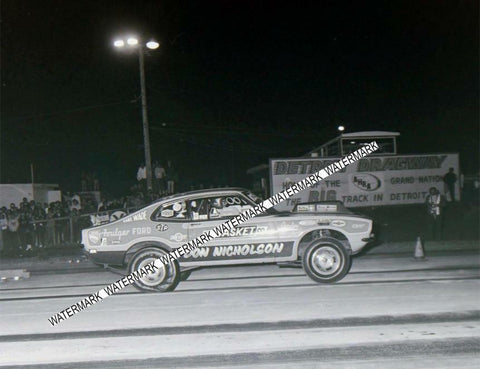 "8 x 10"" Don Nicholson Racing at Detroit Dragway® Made from Negative"