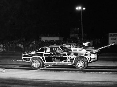 "8 x 10"" Photo of Mr. Bardahl Racing at Detroit Dragway Made from Negative"