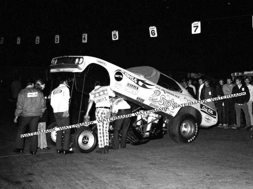 "8x10"" B&W Photo The Snake Don Prudhomme Made from Negative"