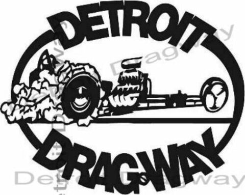 Detroit Dragway Black Dragster sticker/Decal