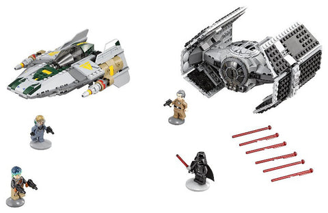 Star Wars  Vader Tie Advanced VS A-wing Starfighter