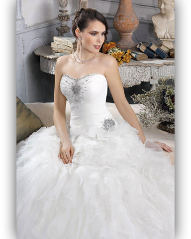 Robe de Mariée Kelly Star Bustier Transparent Baleines Apparentes
