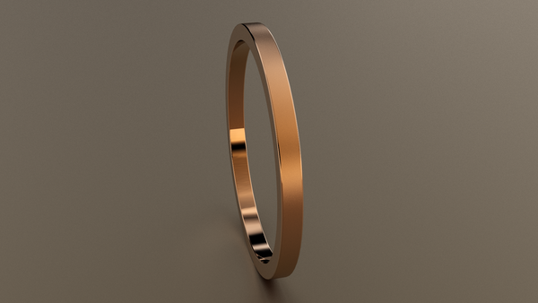 Brushed Rose Gold 1.5mm Flat Wedding Band