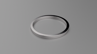 Polished Sterling Silver 1.5mm Flat Wedding Band
