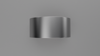 Brushed Sterling Silver 10mm Flat Wedding Band