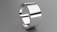 Polished Sterling Silver 10mm Flat Wedding Band